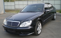 Book a car in Moscow, Mercedes S500 W220