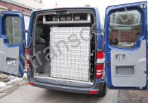 Wheelchair minivan rent in Moscow, Mercedes Sprinter with locked lift