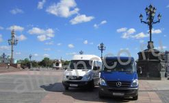 Wheelchair minivan rent in Moscow, Mercedes Sprinter from our fleet
