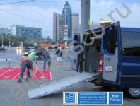 Wheelchair minivan rent in Moscow, Mercedes Sprinter with lift
