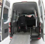 Mercedes Sprinter van for people with limited mobility 1