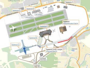 Transfer airport Moscow Sheremetyevo SVO, Map of territory
